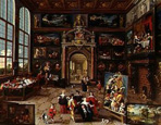 名画絵画のプリント作品販売 フランス・フランケン2世 Frans Francken the YoungerのA Collector's gallery. (Realised with Cornelis de Baellieur).