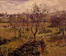 名画絵画のプリント作品販売 カミーユ・ピサロ Camille PissarroのLandscape with kitchen garden near Eragny. 1880