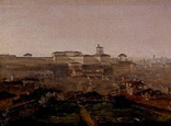 名画絵画のプリント作品販売 Johann Georg von DillisのView from the Villa Malta onto the Quirinal Hill, Rome. 1818