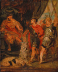 名画絵画のプリント作品販売 ピーテル・パウル・ルーベンス Peter Paul RubensのMucius Scaevola before Porsenna. 1621 (Rubens together with A. van Dyck)