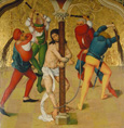 名画絵画のプリント作品販売 Rueland Frueauf the ElderのPassion Altar: Christ at the martyrdom column. About 1470/80