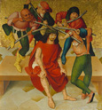 名画絵画のプリント作品販売 Rueland Frueauf the ElderのPassion Altar: Crowning with Thorns. About 1470/80