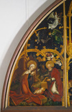 名画絵画のプリント作品販売 ハンス・ホルバイン(父) Hans Holbein der AltereのThe Nativity. From: Basilica Santa Maria Maggiore (left wing, detail).