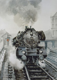 名画絵画のプリント作品販売 Gonzalo Gomez JordanのArrival of the Train.