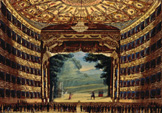 名画絵画のプリント作品販売 TheaterのInterior view of the Teatro alla Scala in Milan, ca. 1830.
