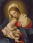 名画絵画のプリント作品販売 Giovanni Battista (Sassoferrato) SalviのThe Madonna and Child.