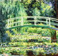 名画絵画のプリント作品販売 クロード・モネ Claude Monetの睡蓮,Water Lilies,Les Nymph?as Brucke in Monets Garten mit weisen Seerosen. 1899.
