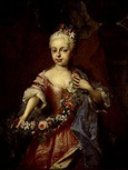 名画絵画のプリント作品販売 Adam ManyokiのPortrait of Maria Theresia at the age of six. 1723