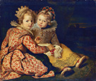 名画絵画のプリント作品販売 コルネリス・ド・フォス Cornelis de VosのMagdalena and Jan-Baptist de Vos, the painter's children. About 1622.