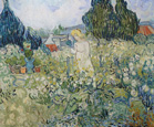 名画絵画のプリント作品販売 フィンセント・ファン・ゴッホ Vincent Willem van GoghのMademoiselle Gachet in her garden at Auvers-sur-Oise. 1890.