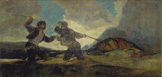 名画絵画のプリント作品販売 フランシスコ・デ・ゴヤ Francisco Jose de Goya y LucientesのDuel with Clubs. (from the black paintings of the Quinta del Sordo). 1820-23.