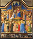 名画絵画のプリント作品販売 フラ・アンジェリコ Fra' Angelico (Beato Angelico)のCoronation of the Virgin. From the Altarpiece from S. Domenico, Florence.