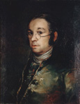 名画絵画のプリント作品販売 フランシスコ・デ・ゴヤ Francisco Jose de Goya y LucientesのSelf Portrait with Glasses. About 1798/1800