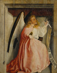 名画絵画のプリント作品販売 コンラート・ヴィッツ Konrad WitzのThe Angel of the Annunciation (exterior of the Heilsspiegel altarpiece). About 1435