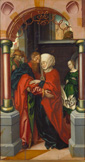 名画絵画のプリント作品販売 ハンズ・フライズ Hans FriesのSaint Joachim and Saint Anne meeting at the golden gate. 1512