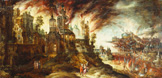 名画絵画のプリント作品販売 Kerstiaen de KeuninckのThe Destruction Of Sodom And Gomorrah.