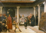 名画絵画のプリント作品販売 ローレンス・アルマ=タデマ Sir Lawrence Alma-TademaのThe Education of the Children of Clothilde and Clovis.