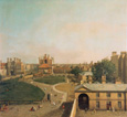 名画絵画のプリント作品販売 カナレット Canaletto (Giovanni Antonio Canal)のLondon, Whitehall and Privy Garden as seen from the Richmond House. 1746/47