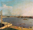 名画絵画のプリント作品販売 カナレット Canaletto (Giovanni Antonio Canal)のLondon, Thames and City as seen from the Richmond House. 1746/1747.