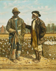 名画絵画のプリント作品販売 William Aiken WalkerのTwo Elderly Cotton Pickers. 1888
