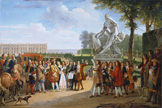 名画絵画のプリント作品販売 Anicet Charles Gabriel LemonnierのLudwig XIV. at the unveiling of the sculpture Milon of Croton from P.Puget. 1814