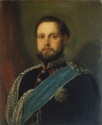 名画絵画のプリント作品販売 カール・ラール Carl RahlのPortrait of Grand Duke Nikolaus Friedrich Peter von Oldenburg. 1861.