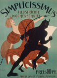名画絵画のプリント作品販売 トーマス・ハイネ Thomas Theodor HeineのCover page of an issue of Simplicissimus 1896.