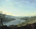 名画絵画のプリント作品販売 アントン・グラフ Anton GraffのThe River Elbe near Blasewitz beyond Dresden. About 1800