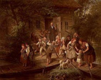 名画絵画のプリント作品販売 Johann Hermann KretzschmeのAfter School, Spree forest.