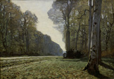 名画絵画のプリント作品販売 クロード・モネ Claude MonetのThe Road to Chailly (the forest of Fontainebleau).