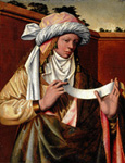 名画絵画のプリント作品販売 Ludger Tom Ring the ElderのSamian Sibyl. About 1536