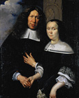 名画絵画のプリント作品販売 Johann Heinrich RoosのPortrait of an unknown couple. 1668