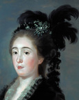 名画絵画のプリント作品販売 フランシスコ・デ・ゴヤ Francisco Jose de Goya y LucientesのDona Maria Teresa de Vallabriga - Detail 1783