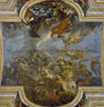 名画絵画のプリント作品販売 シャルル・ル・ブラン Charles Le BrunのPassage on the Rhine 1672, Ceiling Painting from the Galerie des Glaces