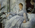 名画絵画のプリント作品販売 エドゥアール・マネ Edouard ManetのThe Reading. Mme. Manet and her son, Leon Koella-Leenhoff. 1869