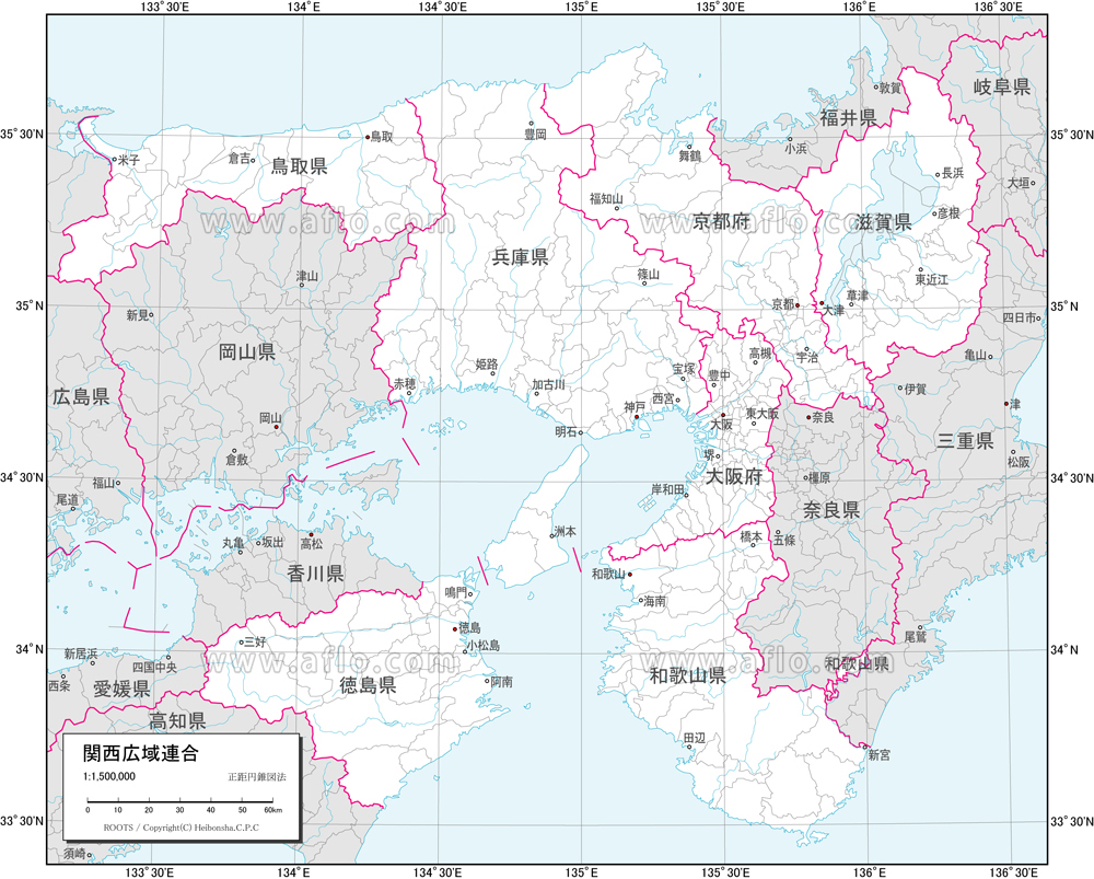 地図素材:関西広域連合 白地図 [...
