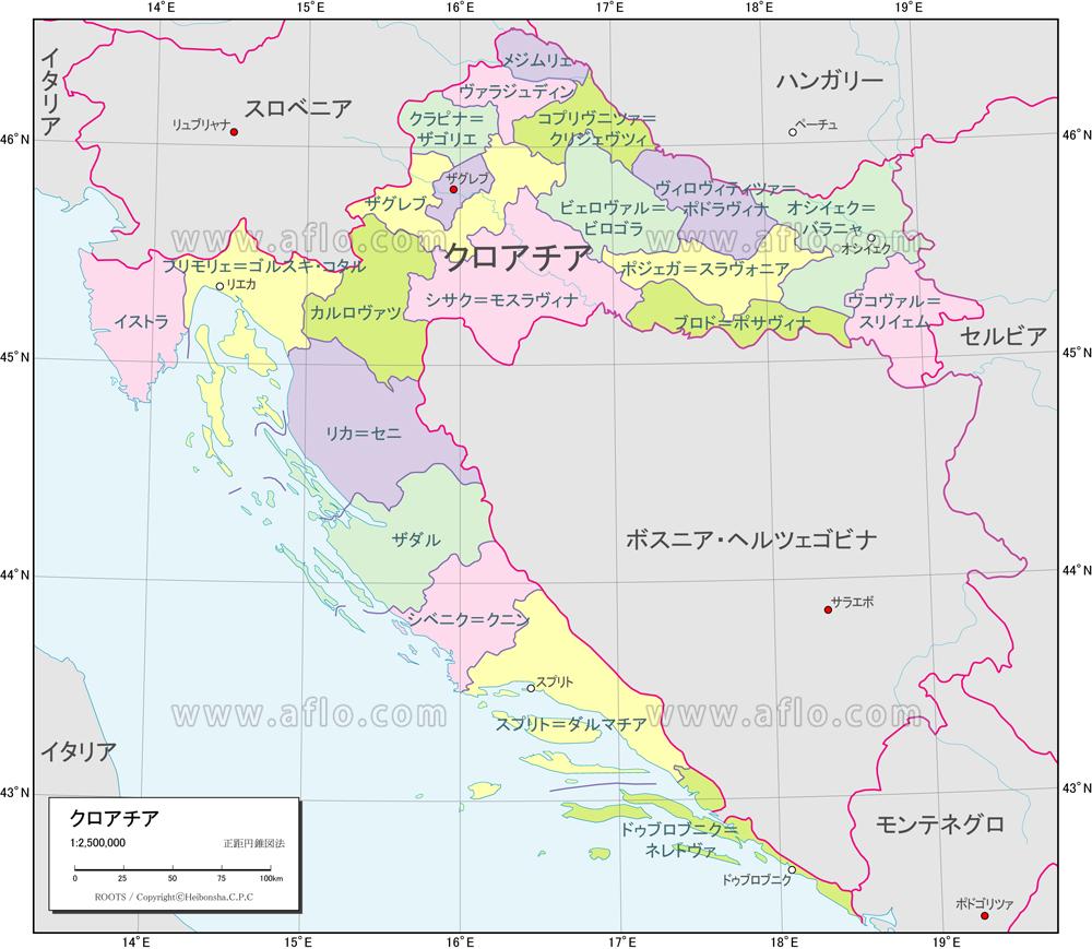 クロアチア 地図