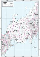 中部地方 白地図 ベクター地図素材のダウンロード販売 アフロモール